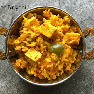 Paneer Biryani in Instant Pot.