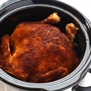 """Slow Cooker """"Rotisserie"""" Chicken."""