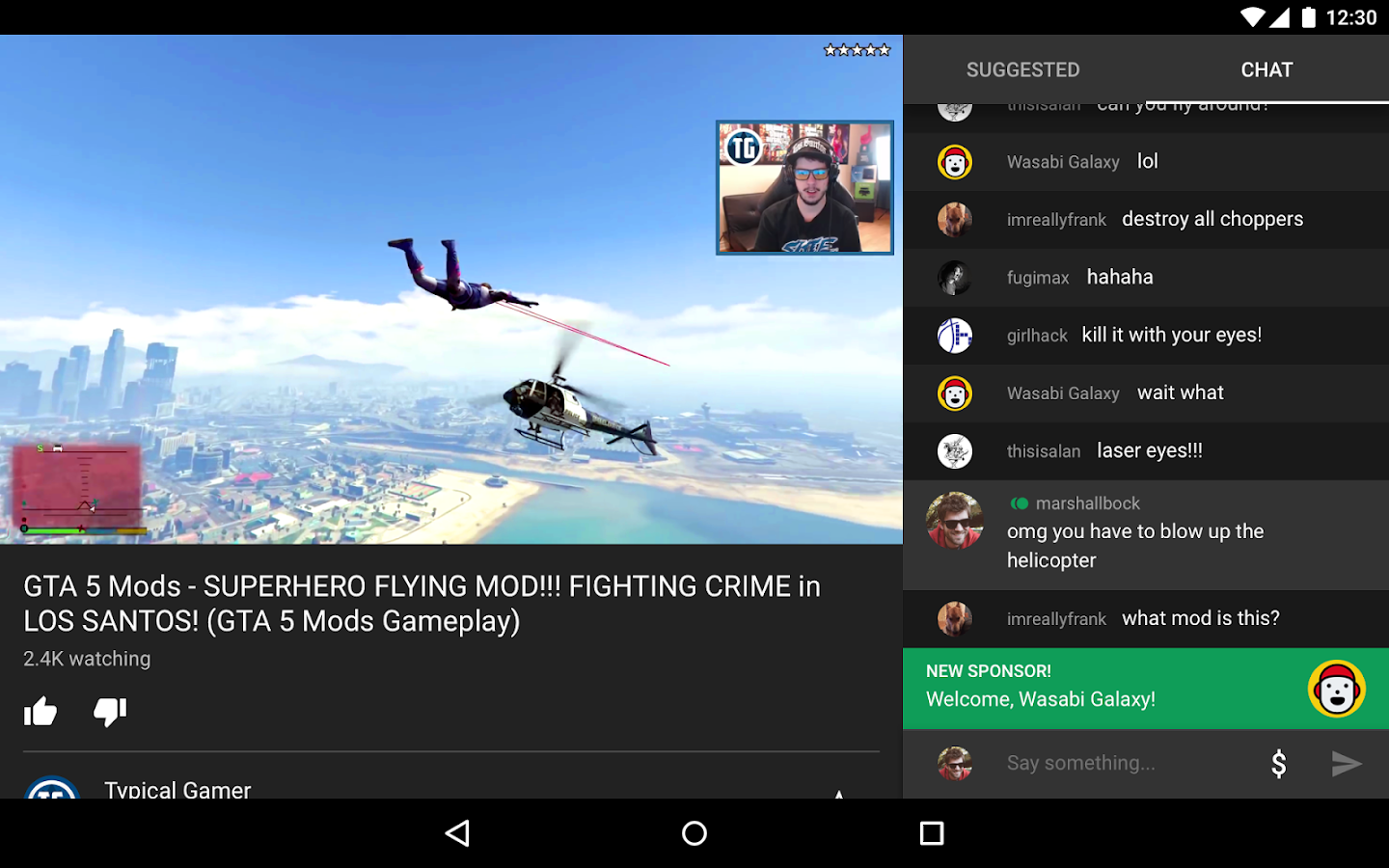 YouTube Gaming – Screenshot
