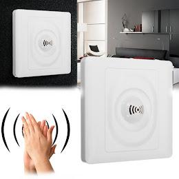 Aprinde lumina batand din palme: Intrerupator cu functie detectare sunet.