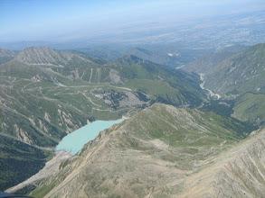 Photo: с вертолета большое Алматинское озеро и Тянь-Шанская Астрономическая обсерватория