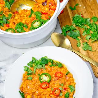Moroccan Chickpea Lentil Soup (Harira).