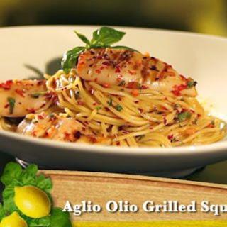 Aglio Olio Grilled Squid Recipe