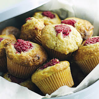 Raspberry and Banana Mini Muffins.