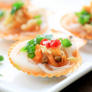 Steamed Scallops with vermicelli (How to Cook Scallops Part I).