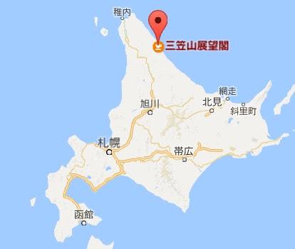 地図:三笠山展望閣・カフェラウンジ