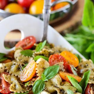 Bow Tie Pasta Salad With Pesto Recipes.