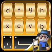 Gold Keyboard: Golden Keyboard Theme