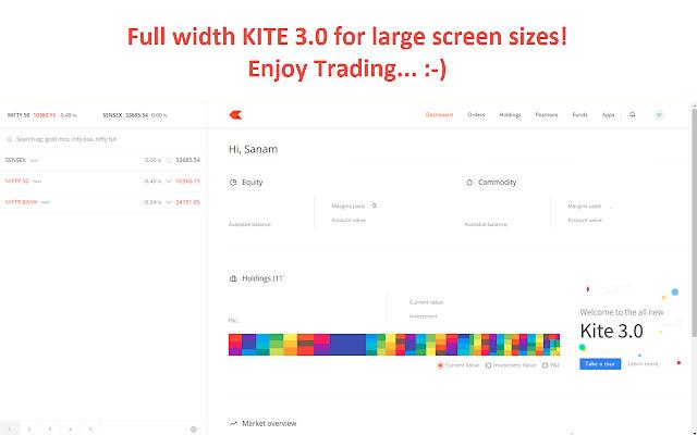 Kite 3.0 Full Width Zerodha Trading Platform