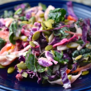 Mexican Pomegranate Kale Salad.