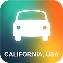 California, USA GPS Navigation icon