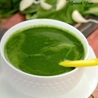Low Calorie Spinach Soup.