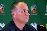 Head Coach Vladislav Heric during the Royal Eagles Press Conference at Moses Mabhida Stadium on February 07, 2018 in Durban, South Africa.