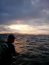Photo: ちょっと波、風あるので今日は「バーティカルジギング」!