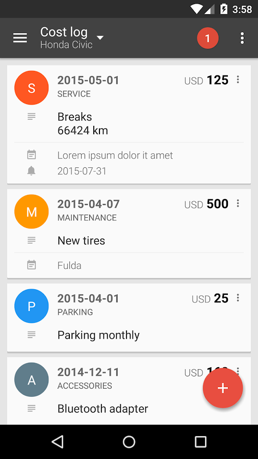 Fuelio: Fuel log & costs- screenshot
