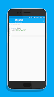 SharpIDE - JavaScript IDE and Editor for Android - náhled