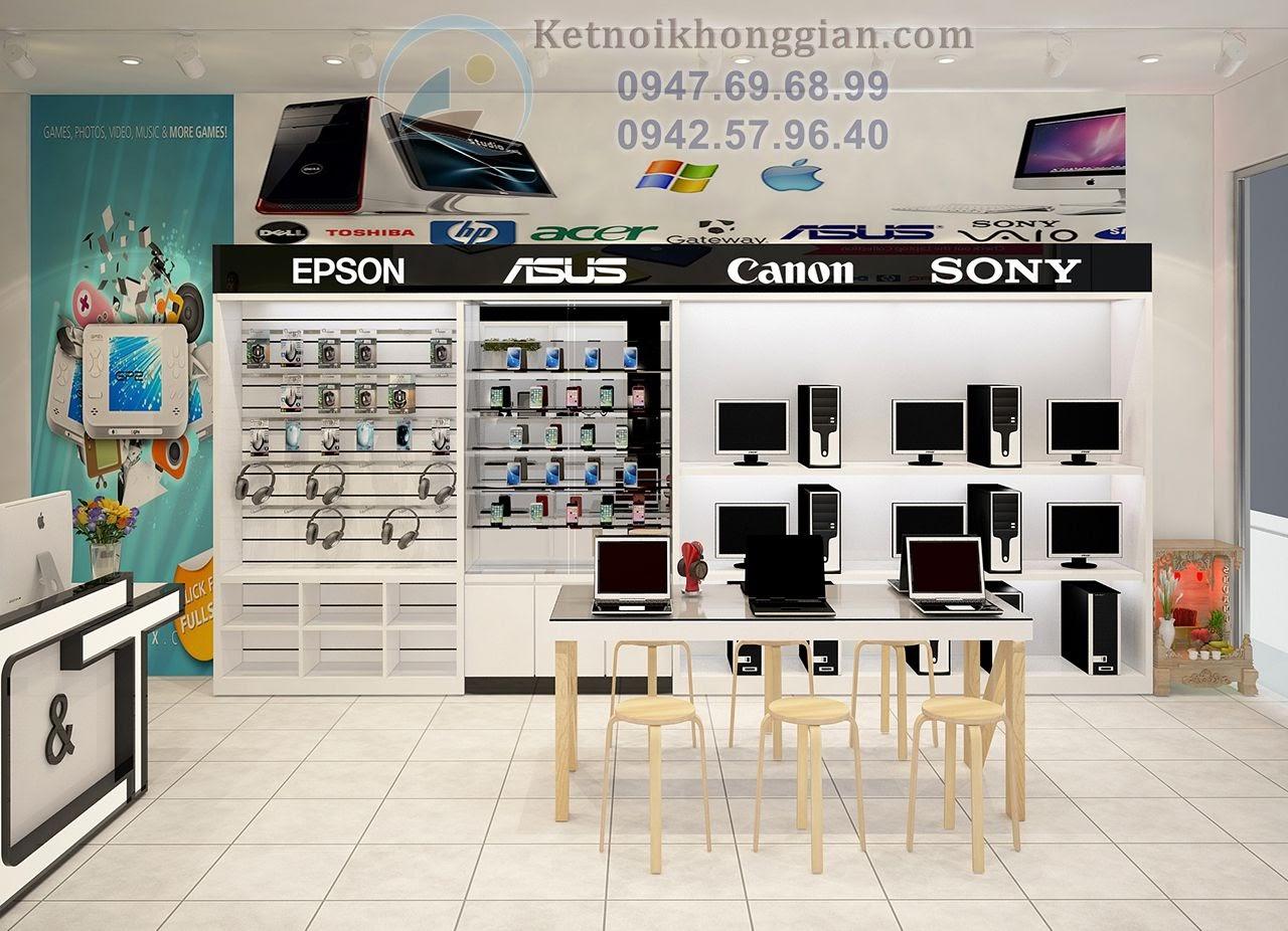 thiết kế cửa hàng máy tính đơn giản