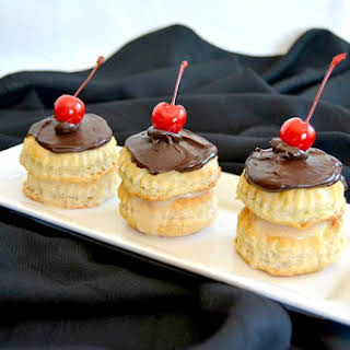 Boston Cream Puff Cakes.