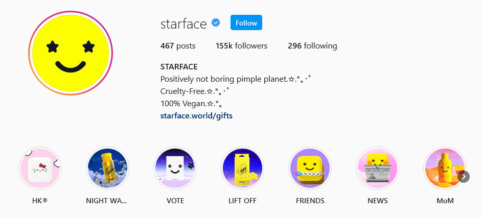 instagram brands starface