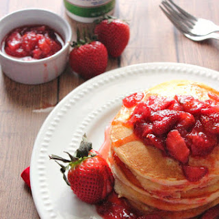 Ricotta Pancakes with Fresh Strawberry Syrup