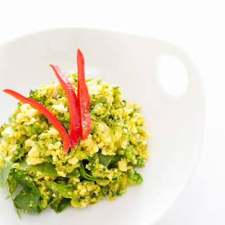 CURRIED BROCCOLI CAULIFLOWER COUSCOUS.