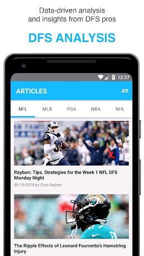 FantasyLabs - DFS Lineup Builder, Props, Articles 2.1 screenshots 2