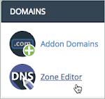 Zone Editor link is selected under the Domains section.