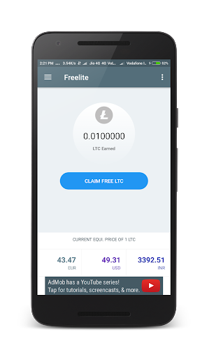 Freelite : Earn free Litecoins 1.0 screenshots 2