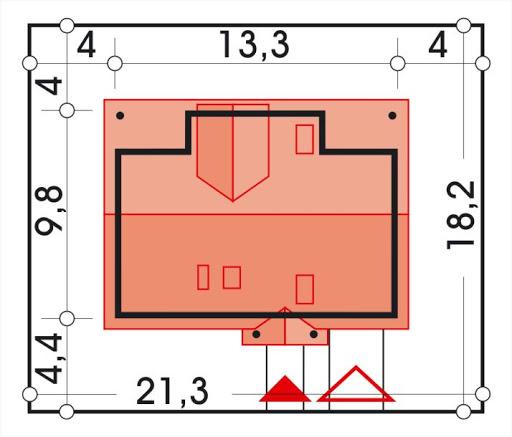 Ala II wersja A z pojedyńczym garażem - Sytuacja