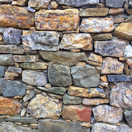 Stone wall by Dan Larsen - Nature Up Close Rock & Stone ( hand made )