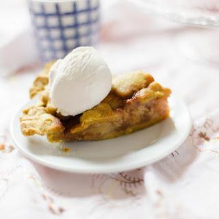 Salted Caramel Pear Pie