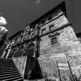 real monasterio de san pelayo, Oviedo - black & white by -. Phooneenix .- - Black & White Buildings & Architecture ( oviedo, san pelayo, black and white, monasterio )