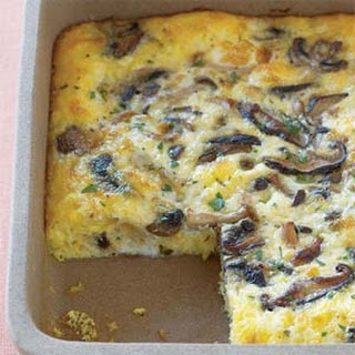 Wild Mushroom-Egg Bake