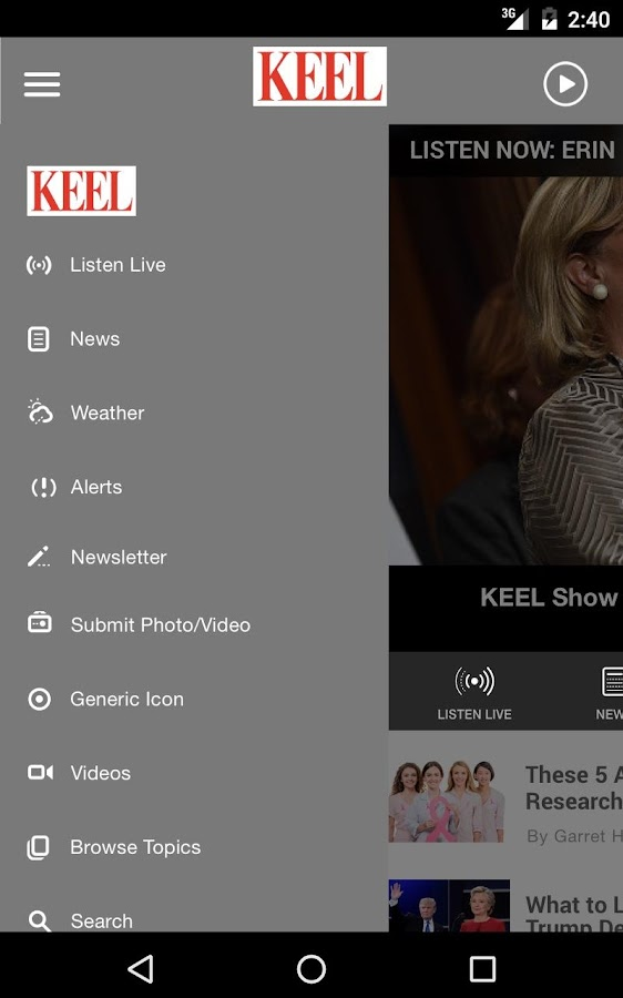 News Radio 710 KEEL Shreveport- screenshot
