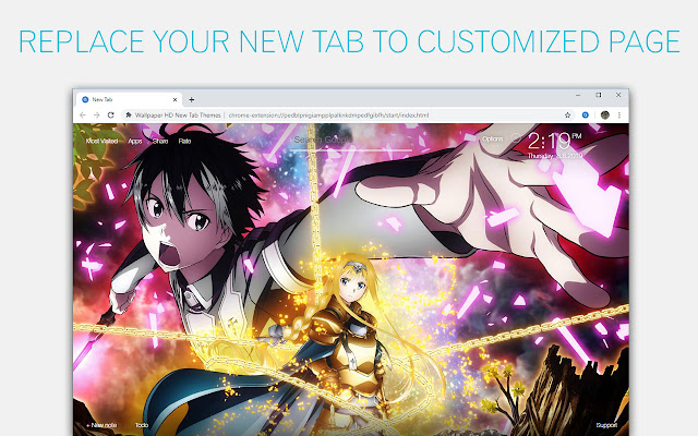Sword Art Online Wallpaper Hd Custom New Tab