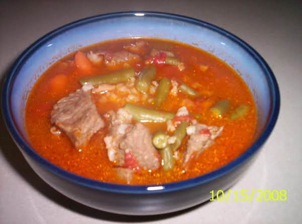 Fireman Bob's Spicy Beef  Stoup  My Way.... Recipe