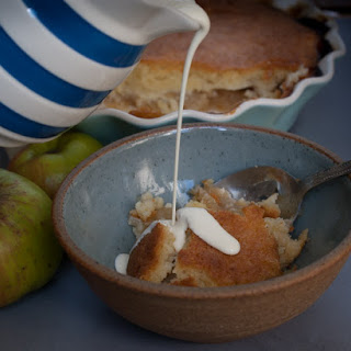 Baked Apple, Orange and Almond Pudding
