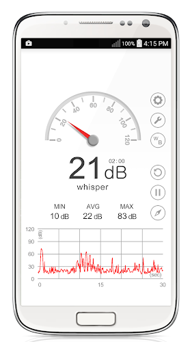 Sound Meter Android App Screenshot