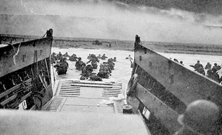 Infantry storming a beach