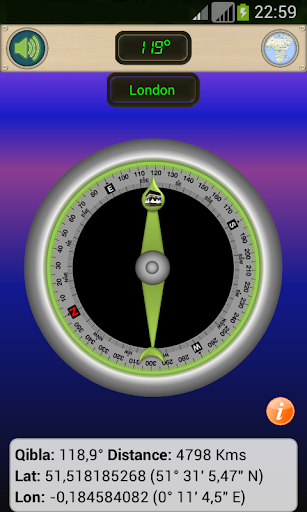 qibla gps: qibla direction with gps screenshot 2