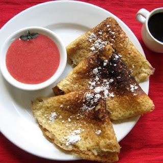 Crepes with Fresh Strawberry Sauce