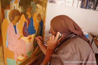Photo: maestra matta dipinge telefonando