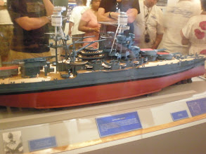 Photo: model of the USS Arizona