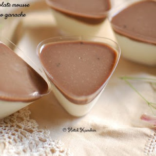 White Chocolate Mousse with Espresso Ganache Recipe
