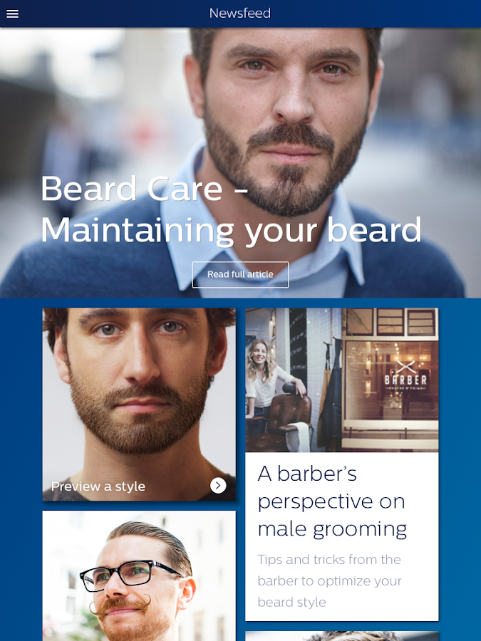 Grooming: styling & shaving- screenshot