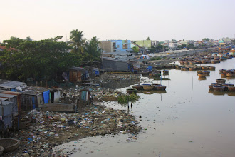 Photo: Year 2 Day 21  -  The Rubbish on the Side of the River as We Left Phan Ri Cua