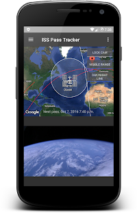 ISS Tracker & Pass Calculator - náhled
