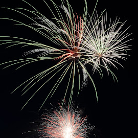 ThreeGlow by Narendra Sharma - Digital Art Things ( digital photography, long exposure, fireworks )
