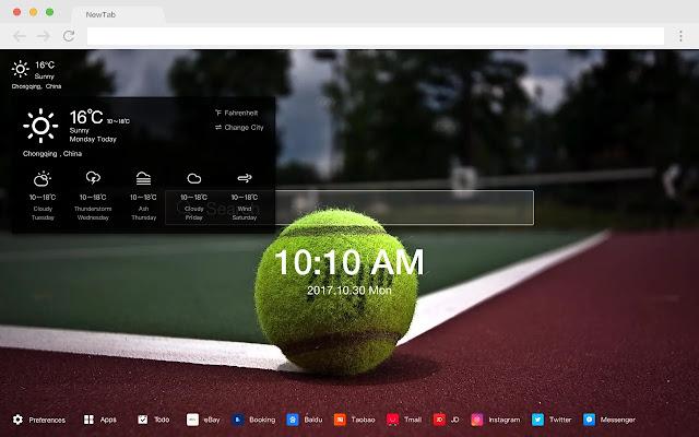 Tennis HD New Tabs Popular Sports Themes