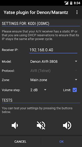 Denon/Marantz plugin by Jacob Laursen (Google Play, United States